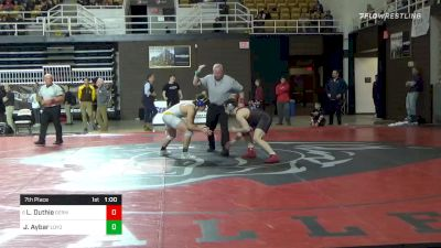 182 lbs 7th Place - Luke Duthie, Germantown Academy vs Jeremiah Aybar, Loyola-blakefield