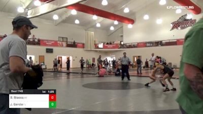 110 lbs 3rd Place - Brett Blaess, NB vs Julian Garcia, FL