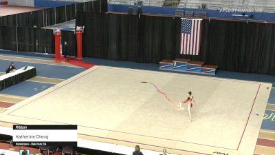 Katherine Cheng - Ribbon - 2021 Rhythmic Elite Qualifier