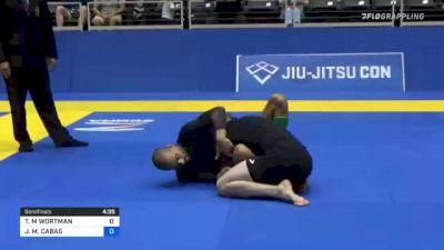 THOMAS M WORTMAN vs JOAN M. CABAS 2021 World IBJJF Jiu-Jitsu No-Gi Championship