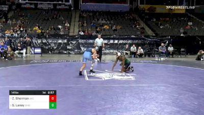 141 lbs Consolation - Zach Sherman, North Carolina vs Shakur Laney, Ohio