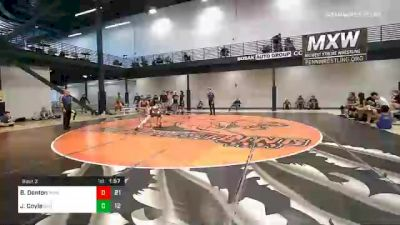 145 lbs Prelims - Bryce Denton, Midwest Xtreme Wrestling vs Jack Coyle, Bad Boys IN