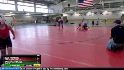 200 lbs Round 3 (4 Team) - Savannah Isaacs, Ohio vs Ella Murphey, Charlies Angels Pink