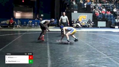 141 lbs Consolation - Tariq Wilson, NC State vs Angelo Martinoni, Cal State Bakersfield