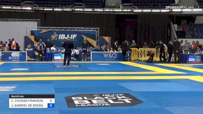 COLE THOMAS FRANSON vs JOÃO GABRIEL DE SOUSA 2019 World IBJJF Jiu-Jitsu No-Gi Championship