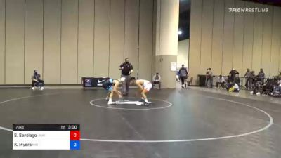 70 kg Consolation - Sonny Santiago, Unattached vs Kollin Myers, Mat Town USA
