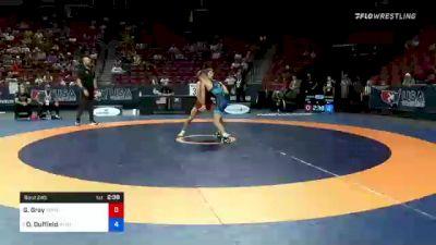 55 kg Con Semis - Gabriel Gray, Texas Panhandle Wrestling Club vs Dalton Duffield, Army (WCAP)