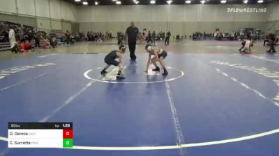 85 lbs Final - Daniel Dennis, East Coast Bandits vs Connor Surrette, Pinnacle