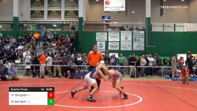 138 lbs Quarterfinal - Kaleb Burgess, Pal Mac vs Beau Bartlett, Wyoming Seminary