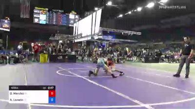 126 lbs Consi Of 16 #2 - Damian Mendez, Kansas vs Angelo Lozado, Colorado