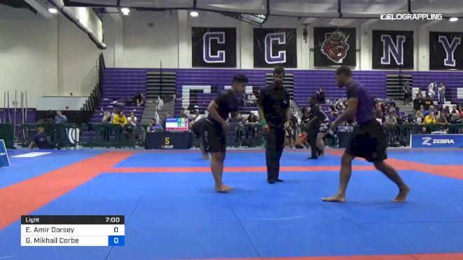 Elijah Amir Dorsey vs Gavin Mikhail Corbe 2019 Pan IBJJF Jiu-Jitsu No-Gi Championship