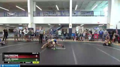 130 lbs Round 7 (8 Team) - Max Firestine, Aces Of Diamonds vs Kyler Crooks, Team Ohio