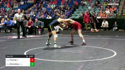 157 lbs Quarterfinal - Justin Thomas, Oklahoma vs Luke Zilverberg, South Dakota State