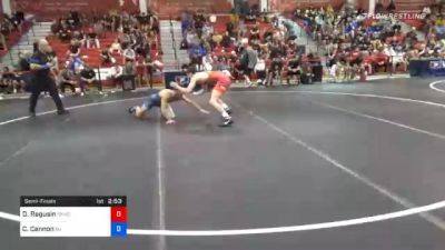 61 kg Semifinal - Dylan Ragusin, Cliff Keen Wrestling Club vs Chris Cannon, New Jersey