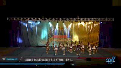 United Rock Nation All Stars - L2 Junior [2021 L2 Junior - D2 - Medium Day 2] 2021 The STATE DI & DII Championships