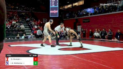 141 lbs Prelims - Dylan Duncan, Illinois vs Alec McKenna, Northwestern