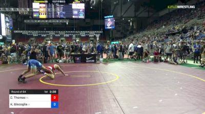 120 lbs Round Of 64 - Cole Thomas, Alabama vs Kyle Biscoglia, Iowa