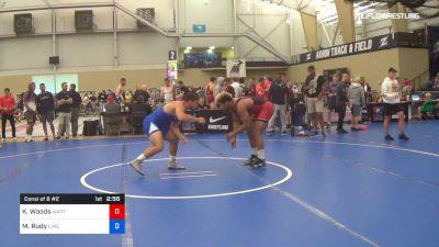 97 kg Consi Of 8 #2 - Kobe Woods, Wartburg vs Matthew Rudy, Limestone College