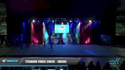 Titanium Force Cheer - Sirens [2021 L2 Junior - D2 - Small Day 2] 2021 The American Gateway DI & DII