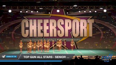 Top Gun All Stars - Senior White [2020 Senior 1 Day 2] 2020 CHEERSPORT National Cheerleading Championship