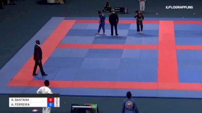 ANA SANTANA vs ANA FERREIRA 2018 Abu Dhabi Grand Slam Rio De Janeiro
