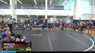 84 lbs Round 7 (8 Team) - Coleton Klipa, Aces Of Diamonds vs Urijah Lopez, Team Ohio