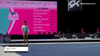 Kaliya Lincoln - Floor, WOGA - 2021 GK US Classic & Hopes Championship