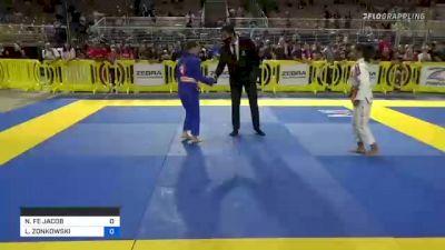 NINA FE JACOB vs LORIEN ZONKOWSKI 2021 Pan Kids Jiu-Jitsu IBJJF Championship