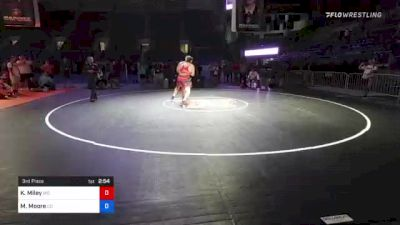 285 lbs 3rd Place - Keith Miley, Missouri vs Matthew Moore, Colorado