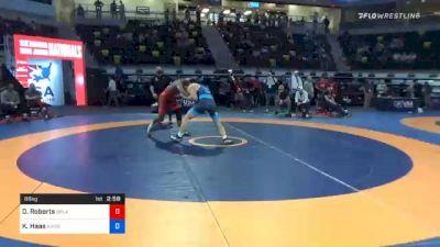 86 kg Semifinal - Darrien Roberts, Oklahoma Regional Training Center vs Kyle Haas, Kansas City Wrestling Club
