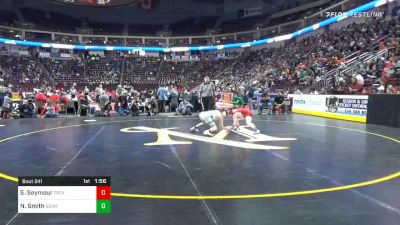 120 lbs Quarterfinal - Sheldon Seymour, Troy vs Nate Smith, Bishop McDevitt