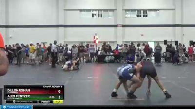 135 lbs Champ. Round 3 - Alex Mentzer, South Dakota vs Dillon Roman, Colorado