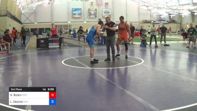 86 kg 3rd Place - Hunter Bolen, SERTC-VT vs Lou Deprez, Bearcat Wrestling Club