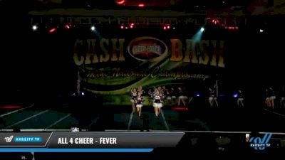 All 4 Cheer - Fever [2021 L3 Junior - D2 - Medium Day 1] 2021 ACP Cash Bash Championship