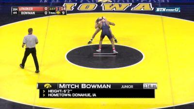 184, Emery Parker, ILL vs Mitch Bowman, Iowa
