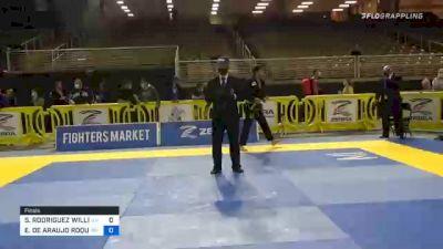 SEBASTIAN RODRIGUEZ WILLIAMS vs EDUARDO DE ARAUJO ROQUE 2020 IBJJF Orlando International Open Jiu-Jitsu Championship
