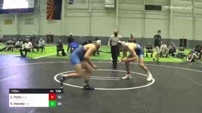 170 lbs Rr Rnd 3 - Cannon Potts, Salem Elite vs Roman Mendez, The Club