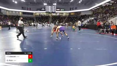 157 lbs Prelims - Tony Ulaszek, United State Coast Guard Academy vs Daniel Ruiz, Loras College
