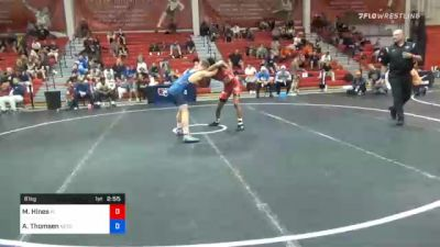 61 kg 7th Place - Malyke Hines, Florida vs Alex Thomsen, Nebraska Wrestling Training Center