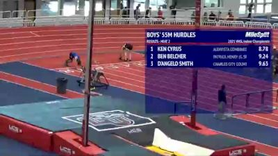 High School Boys' 55m Hurdles, Finals 3