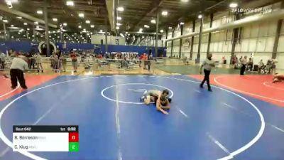 98 lbs 2nd Place - Braeden Borreson, Ringers vs Colton Klug, Mollitium