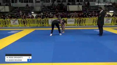 MARGARET ROSE GRINDATTI vs KENDALL MARIE REUSING 2021 Pan IBJJF Jiu-Jitsu No-Gi Championship