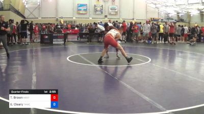 74 kg Quarterfinal - Taylor Brown, West Point RTC vs Elijah Cleary, TMWC/Ohio RTC