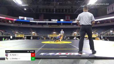 184 lbs Final - Sam Karel, Liberty University vs Jarrod Smiley, University Of Central Florida