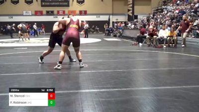 285 lbs Quarterfinal - Matt Stencel, Central Michigan vs Parker Robinson, Maryland