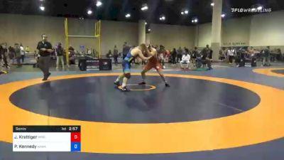 79 kg Semifinal - Jared Krattiger, Wisconsin RTC vs Patrick Kennedy, Hawkeye Wrestling Club