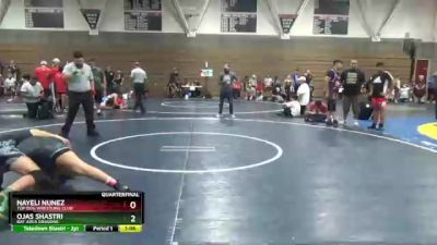 157 lbs Quarterfinal - Nayeli Nunez, Top Dog Wrestling Club vs Ojas Shastri, Bay Area Dragons