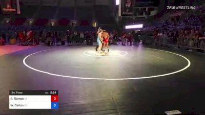 138 lbs 3rd Place - Ramon Ramos, Arizona vs Weston Dalton, Colorado
