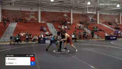 82 kg Prelims - Tommy Brackett, Tennessee vs George Sikes, New York Athletic Club