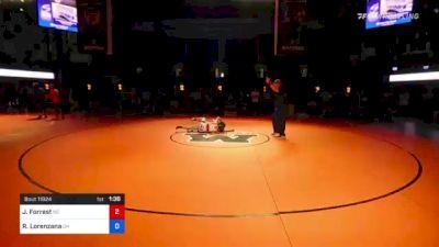 120 lbs 5th Place - Jax Forrest, North Carolina vs Ruben Lorenzana, Ohio